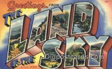 LLT200778 - Land of the Sky USA Large Letter Town Vintage Postcard Old Post Card Antique Postales, Cartes, Kartpostal