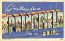 LLT200779 - Springfield, Ohio USA Large Letter Town Vintage Postcard Old Post Card Antique Postales, Cartes, Kartpostal