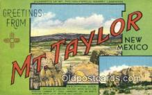 LLT200781 - Mt Taylor, New Mexico USA Large Letter Town Vintage Postcard Old Post Card Antique Postales, Cartes, Kartpostal
