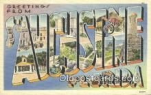 LLT200786 - St Augustine, Florida USA Large Letter Town Vintage Postcard Old Post Card Antique Postales, Cartes, Kartpostal