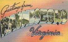 LLT200787 - Waynesboro, Virignia USA Large Letter Town Vintage Postcard Old Post Card Antique Postales, Cartes, Kartpostal