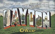 LLT200789 - Dayton, Ohio USA Large Letter Town Vintage Postcard Old Post Card Antique Postales, Cartes, Kartpostal