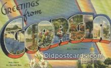 LLT200790 - Georgia USA Large Letter Town Vintage Postcard Old Post Card Antique Postales, Cartes, Kartpostal