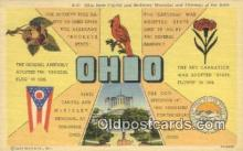 LLT200794 - Ohio USA Large Letter Town Vintage Postcard Old Post Card Antique Postales, Cartes, Kartpostal