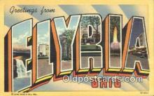 LLT200795 - Flyria, Ohio USA Large Letter Town Vintage Postcard Old Post Card Antique Postales, Cartes, Kartpostal