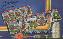 LLT200797 - North Dakota USA Large Letter Town Vintage Postcard Old Post Card Antique Postales, Cartes, Kartpostal
