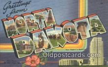 LLT200798 - North Dakota USA Large Letter Town Vintage Postcard Old Post Card Antique Postales, Cartes, Kartpostal