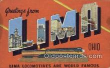 LLT200801 - Lima, Ohio USA Large Letter Town Vintage Postcard Old Post Card Antique Postales, Cartes, Kartpostal