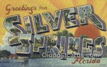 LLT200803 - Silver Springs, Florida USA Large Letter Town Vintage Postcard Old Post Card Antique Postales, Cartes, Kartpostal