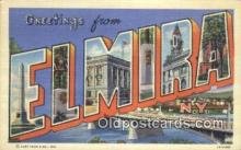 LLT200806 - Elmira, NY USA Large Letter Town Vintage Postcard Old Post Card Antique Postales, Cartes, Kartpostal