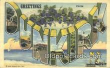 LLT200807 - Dunkirk, NY USA Large Letter Town Vintage Postcard Old Post Card Antique Postales, Cartes, Kartpostal