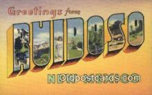 LLT200810 - Ruidoso, New Mexico USA Large Letter Town Vintage Postcard Old Post Card Antique Postales, Cartes, Kartpostal