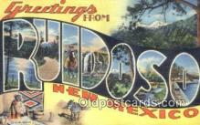 LLT200811 - Ruidoso, New Mexico USA Large Letter Town Vintage Postcard Old Post Card Antique Postales, Cartes, Kartpostal