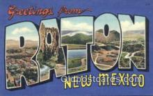 LLT200813 - Raton, New Mexico USA Large Letter Town Vintage Postcard Old Post Card Antique Postales, Cartes, Kartpostal