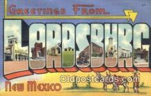 LLT200814 - Lordsburg, New Mexico USA Large Letter Town Vintage Postcard Old Post Card Antique Postales, Cartes, Kartpostal
