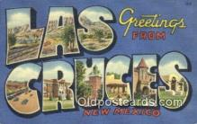 LLT200816 - Las Cruces, New Mexico USA Large Letter Town Vintage Postcard Old Post Card Antique Postales, Cartes, Kartpostal