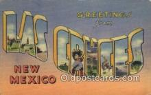 LLT200817 - Las Cruces, New Mexico USA Large Letter Town Vintage Postcard Old Post Card Antique Postales, Cartes, Kartpostal