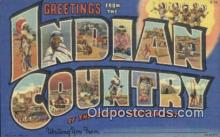 LLT200818 - Indian Country USA Large Letter Town Vintage Postcard Old Post Card Antique Postales, Cartes, Kartpostal