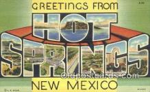 LLT200819 - Hot Springs, New Mexico USA Large Letter Town Vintage Postcard Old Post Card Antique Postales, Cartes, Kartpostal