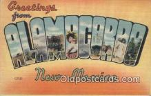 LLT200825 - Alamocordo, New Mexico USA Large Letter Town Vintage Postcard Old Post Card Antique Postales, Cartes, Kartpostal