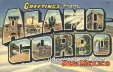 LLT200826 - Alamo Gordo, New Mexico USA Large Letter Town Vintage Postcard Old Post Card Antique Postales, Cartes, Kartpostal