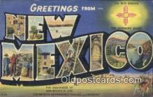 LLT200829 - New Mexico USA Large Letter Town Vintage Postcard Old Post Card Antique Postales, Cartes, Kartpostal