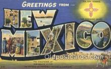 LLT200830 - New Mexico USA Large Letter Town Vintage Postcard Old Post Card Antique Postales, Cartes, Kartpostal