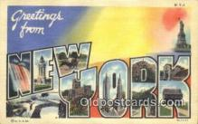 LLT200833 - New York USA Large Letter Town Vintage Postcard Old Post Card Antique Postales, Cartes, Kartpostal