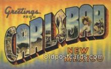 LLT200834 - Carlsbad, New Mexico USA Large Letter Town Vintage Postcard Old Post Card Antique Postales, Cartes, Kartpostal