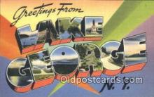 LLT200835 - Lake George, NY USA Large Letter Town Vintage Postcard Old Post Card Antique Postales, Cartes, Kartpostal