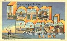 LLT200843 - Long Beach, LI, NY USA Large Letter Town Vintage Postcard Old Post Card Antique Postales, Cartes, Kartpostal