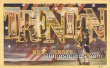 LLT200846 - Trenton, New Jersey USA Large Letter Town Vintage Postcard Old Post Card Antique Postales, Cartes, Kartpostal