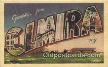 LLT200852 - Elmira, NY USA Large Letter Town Vintage Postcard Old Post Card Antique Postales, Cartes, Kartpostal