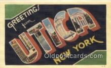 LLT200854 - Utica, New York USA Large Letter Town Vintage Postcard Old Post Card Antique Postales, Cartes, Kartpostal