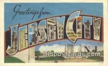 LLT200855 - Jersey City, NJ USA Large Letter Town Vintage Postcard Old Post Card Antique Postales, Cartes, Kartpostal
