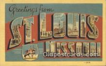 LLT200857 - St Louis, Missouri USA Large Letter Town Vintage Postcard Old Post Card Antique Postales, Cartes, Kartpostal