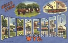 LLT200861 - Kemmerer, Wyo USA Large Letter Town Vintage Postcard Old Post Card Antique Postales, Cartes, Kartpostal