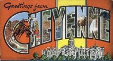 LLT200866 - Cheyenne, Wyo USA Large Letter Town Vintage Postcard Old Post Card Antique Postales, Cartes, Kartpostal
