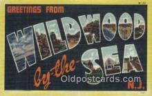 LLT200869 - Wildwood by the Sea, NJ USA Large Letter Town Vintage Postcard Old Post Card Antique Postales, Cartes, Kartpostal