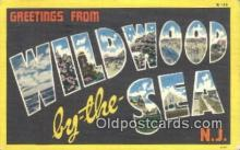 LLT200870 - Wildwood by the Sea, NJ USA Large Letter Town Vintage Postcard Old Post Card Antique Postales, Cartes, Kartpostal