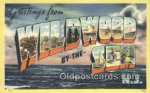 LLT200874 - Wildwood by the Sea, NJ USA Large Letter Town Vintage Postcard Old Post Card Antique Postales, Cartes, Kartpostal