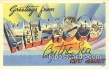 LLT200877 - Wildwood by the Sea, NJ USA Large Letter Town Vintage Postcard Old Post Card Antique Postales, Cartes, Kartpostal