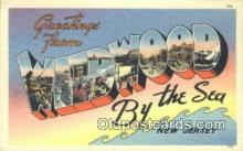 LLT200878 - Wildwood by the Sea, NJ USA Large Letter Town Vintage Postcard Old Post Card Antique Postales, Cartes, Kartpostal