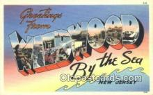 LLT200879 - Wildwood by the Sea, NJ USA Large Letter Town Vintage Postcard Old Post Card Antique Postales, Cartes, Kartpostal