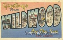 LLT200882 - Wildwood by the Sea, NJ USA Large Letter Town Vintage Postcard Old Post Card Antique Postales, Cartes, Kartpostal