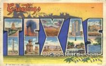LLT200883 - Texas USA Large Letter Town Vintage Postcard Old Post Card Antique Postales, Cartes, Kartpostal