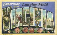 LLT200885 - Virginia USA Large Letter Town Vintage Postcard Old Post Card Antique Postales, Cartes, Kartpostal