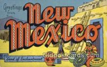 LLT200886 - New Mexico USA Large Letter Town Vintage Postcard Old Post Card Antique Postales, Cartes, Kartpostal