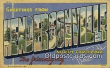 LLT200896 - Hendersonville, North Carolina USA Large Letter Town Vintage Postcard Old Post Card Antique Postales, Cartes, Kartpostal