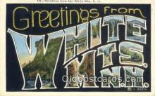 LLT200902 - White Mts, NH USA Large Letter Town Vintage Postcard Old Post Card Antique Postales, Cartes, Kartpostal